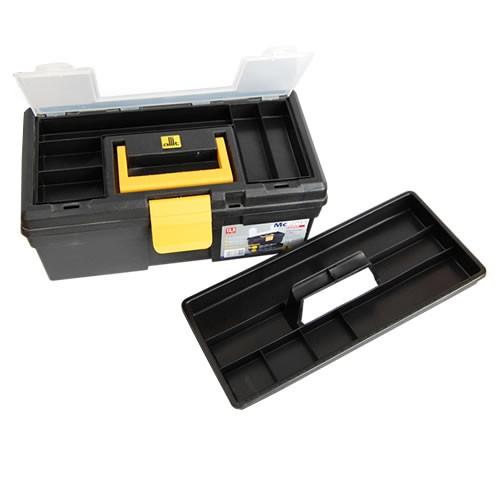 Werkzeugkoffer mit Trageeinsatz + 2 Fächer im Deckel - 31 cm